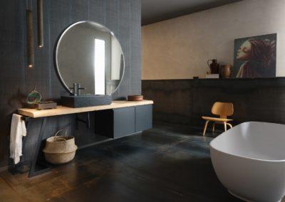 mobile bagno moderno legno nero Valle d'Aosta