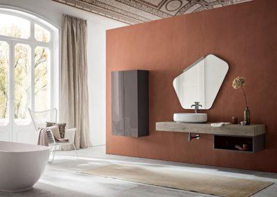 bagno moderno legno design Valle d'Aosta