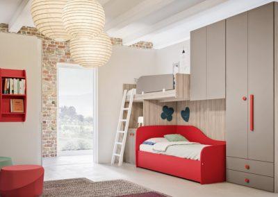 chambre d'enfant moderne lits superposés Aoste
