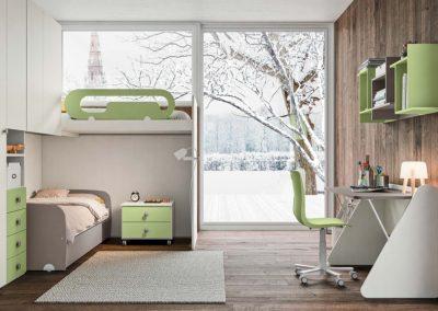 chambre d'enfant moderne lits superposés Vallée d'Aoste