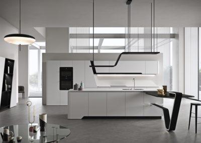 cuisine moderne blanche design Aoste
