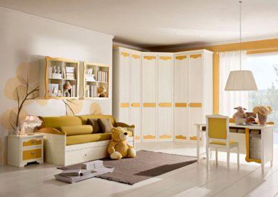 chambre d'enfant classique jaune Aoste