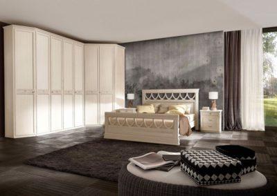 camera da letto classica bianca Aosta